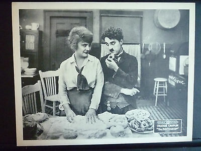 1916 THE PAWNSHOP - RARE R1920s LOBBY CARD - CHARLIE CHAPLIN SILENT COMEDY