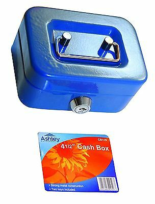 "8"" inch Small Key Lock Petty Cash / Piggy Bank Money Box Lockable Red"