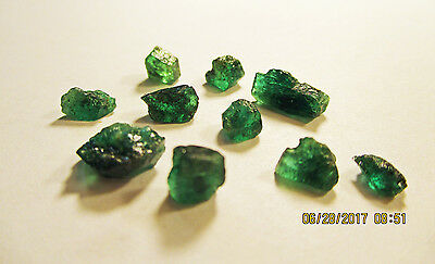 EMERALD FACET ROUGH Rich Dark Green FROM ZAMBIA Natural Untreated 13.70Ct's