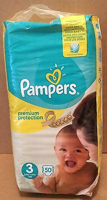 Pampers Premium Protection New Baby Size 3 Nappies - Pack 50 Nappies