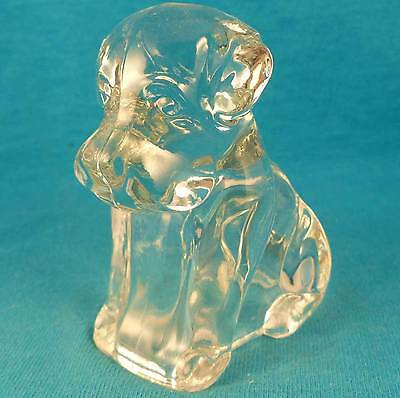 OLD vintage antique glass mopey DOG candy container FREE SHIPPING Excellent