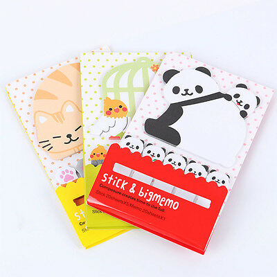 Cute Cartoon Animal Sticky Notes Paper Sticker Bookmarks Notepad Memo Pad