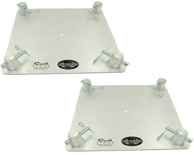 "Pair of 12"" x 12"" Aluminum Truss Base or Top Plate Fits Global Truss F34 SQ"