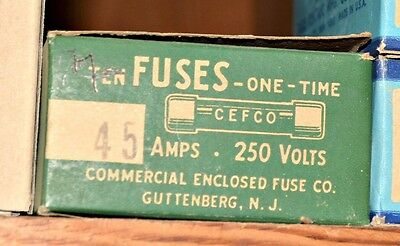 Lot of 4 Cooper Bussmann Cefco NON-45 FAST ACTING General Purpose FUSE 45A NEW