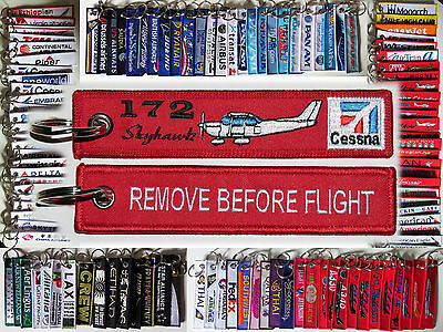 Keyring CESSNA 172 NEW in red Remove Before Flight keychain