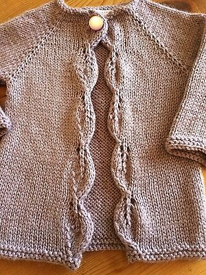 Baby Girl  Matinee Jacket / Cardigan 3 - 6 Months - Hand Knitted With ❤️