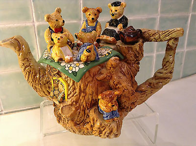 Cardew Rare Collectable Large Novelty Teddy Bears Picnic Teapot Perfect Condtion