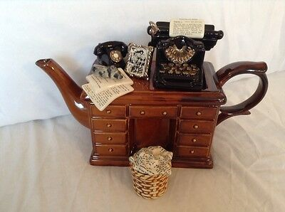 Cardew Collectable Novelty Large Art Deco Writers Desk Teapot Perfect Condition