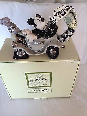 New Cardew Collectable Disney Boxed Mickey's Automobile Mint Condition Teapot