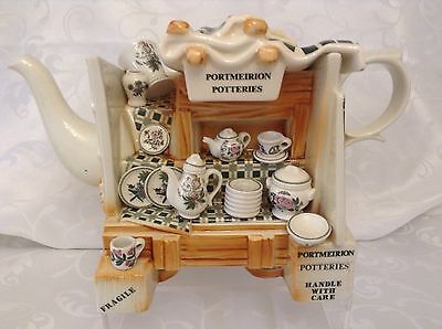 Portmeirion Large Collectible Novelty Teapot China Stall Immaculate Condition