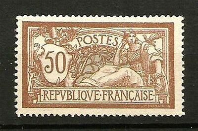 France N° 120 Type MERSON, Le 50 C. NEUF**. Cote 500€