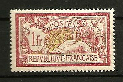 France N° 121 Type MERSON, Le 1 F. NEUF**. Cote 110€