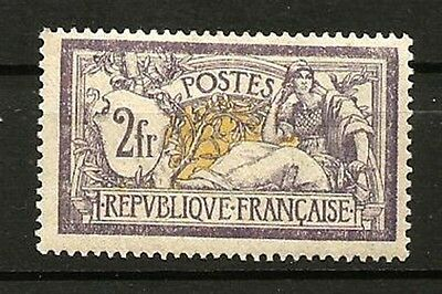 France N° 122 Type MERSON, Le 2 F. NEUF*. Cote 1000€