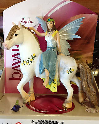 Schleich Elf Eyela in Festive Clothes on White Horse