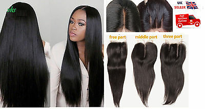 7A Virgin Remy Brazilian Human Hair 4X4 Lace Top Closure Straight