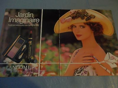 Isabella Rossellini vintage lancome makeup  ad clipping #PEVP