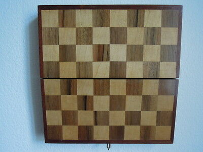 Vintage wooden inlaid chess board / Schachbrett aus Holz