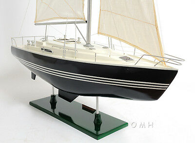 "Victory Sailing Yacht Wooden Sailboat Model 29"" Handcrafted Nautical Boat New"