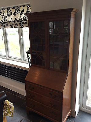 Very rare tiger oak bureau bookcase