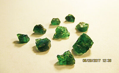 EMERALD FACET ROUGH Rich Dark Green FROM ZAMBIA Natural Untreated 11.95Ct's