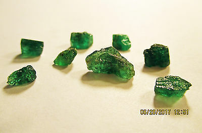 EMERALD FACET ROUGH Rich Dark Green FROM ZAMBIA Natural Untreated 9.55Ct's