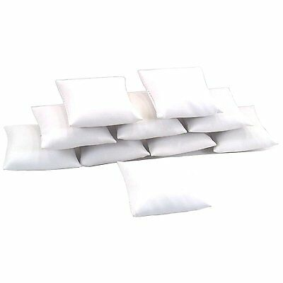 10 White Leather Bracelet Watch Pillow Jewelry Displays 3""