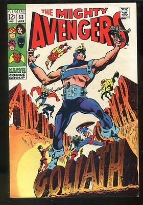 Avengers 63 VF Marvel Silver Age High Grade Large Scans