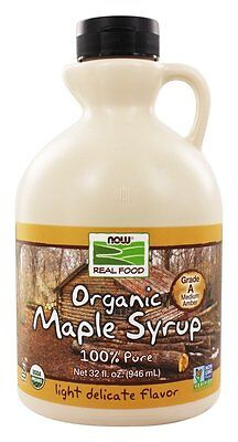 NOW Foods - Grade A Certified Organic  Maple Syrup Light - 32 oz.