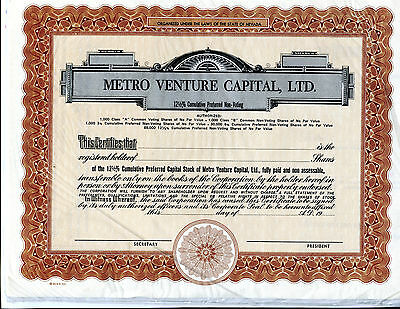 5 Assorted Stock Certificates, All UnIssued #5