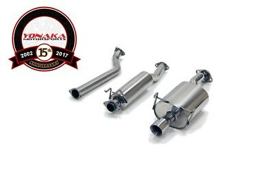 "Yonaka 02-06 Acura RSX BASE Polished Stainless Steel Cat back Exhaust 3.5"" Tip"