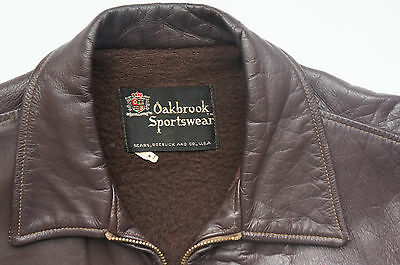 Vintage 60s Sears Oakbrook leather jacket-Size 44/42
