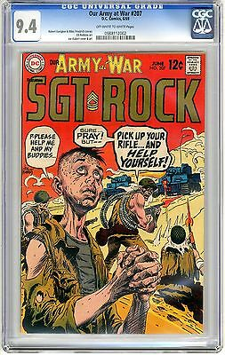 Our Army At War   #207   CGC   9.4   NM  off - white to white pages