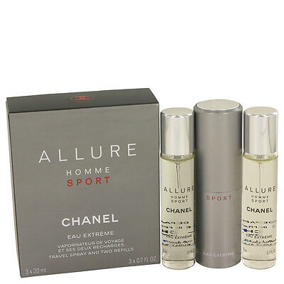 Allure Homme Sport Eau Extreme By Chanel 3x21ml EDT Concentree Spray + 2 Refills