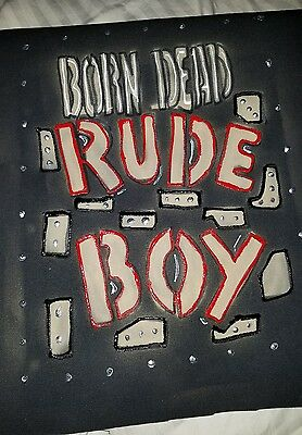 Rude boy back patch, fashion add on, punk rock, punk jacket