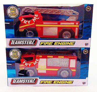 Fire Engine with Flashing Lights & Sounds Die-cast Fire Truck Kids Teamster Toy
