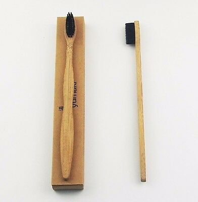 Bamboo Toothbrush Natural Vegan  * Adult * PANDA FRIENDLY * Fast Ship ECO