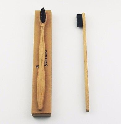 Natural Vegan Bamboo Toothbrush * Adult * PANDA FRIENDLY * Fast Ship ECO