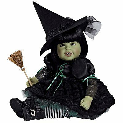 """Adora Toddler Baby Doll 20"""" Wizard of Oz Wicked Witch Black Hair/Green Eyes OPEN"""