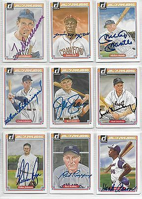 2-Mickey Mantle & 22 Hall Of Famers Signed/autographed D0Nruss Hof Heroes Cards!