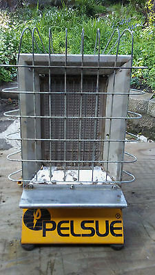 PELSUE 1557 RADIANT 'AERIAL' & 'BURIED' TENT HEATER with 24 ft. PROPANE HOSE