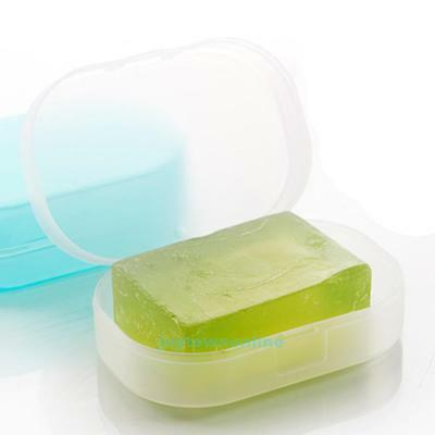 Bathroom Shower Transparent Soap Box Dish Plate Holder Travel Case Container