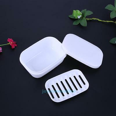 Leakproof Bathroom Shower Soap Box Dish Plate Holder Travel Case Container