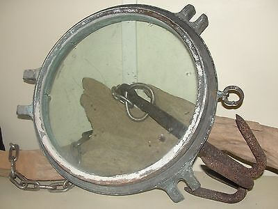 "Rare Large Ship Porthole 14.5"" Dia Nautical Maritime Navy Decor Boat Antique"
