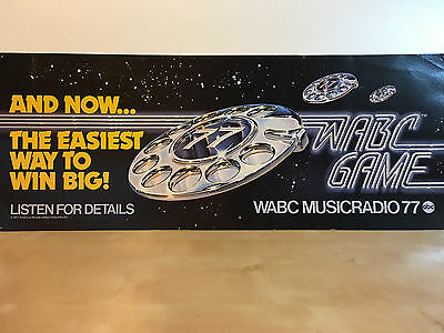 Vintage WABC Musicradio 77 New York Bus/Subway Poster - EXTREMELY RARE