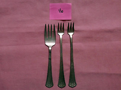 Crab Fork 3 Piece Flatware Plated With Pure Silver!! Collectable Vintage Antique