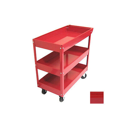 3 Tray Rolling Moving Wheeled Metal Steel Hand Tool Utility Cart Shelf Storage