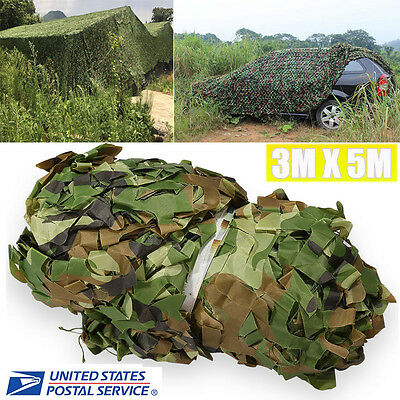 Woodland Camouflage Netting Military Camo Hunting Cover Net Backing 10x16 feet