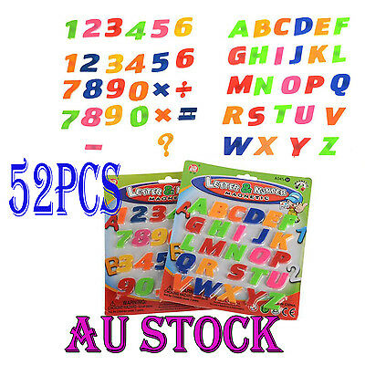 52 X Teaching Magnetic Letters Numbers Fridge Magnets Alphabet Numbers AU STOCK