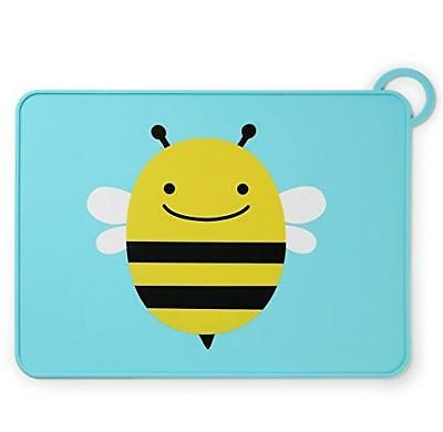 Skip Hop Zoo Fold & Go Silicone Placemat Bee - placemats (Rectangle, Black, Blue