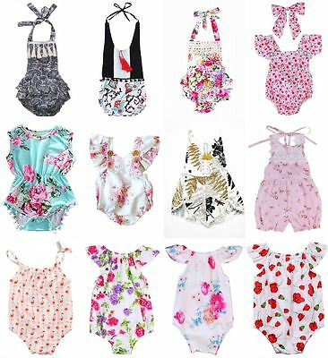 Cute Toddler Infant Baby Girls Bodysuit Jumpsuit Romper Outfits Sunsuit Clothes